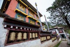Monaster w wysokich górach w Khumbu regionie Zdjęcia Stock