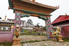 Monaster w wysokich górach w Khumbu regionie Obrazy Royalty Free