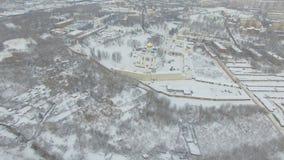 Monaster w zimie zdjęcie wideo