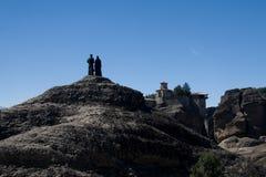 Monasteri del meteora Grecia Fotografia Stock Libera da Diritti