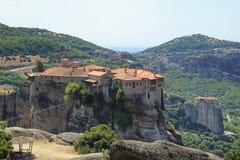 Monasteri di Meteora, Grecia Immagine Stock Libera da Diritti