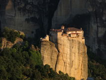 Monasteri greco ortodossi in Meteora Grecia Fotografia Stock Libera da Diritti