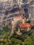 Monasteri sulle rocce fotografia stock