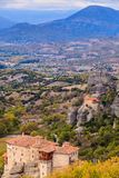 Monasteries in Meteora, Greece royalty free stock images