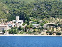 Monasteries at the coast in Greece Stock Image