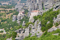 Monasteries in Meteora Royalty Free Stock Photos
