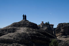 Monasteries of meteora greece Royalty Free Stock Photo