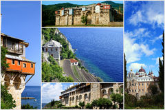 Monasteries on Mount Athos Royalty Free Stock Images