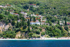 Monasteries  on Mount Athos, Chalkidiki Royalty Free Stock Photography