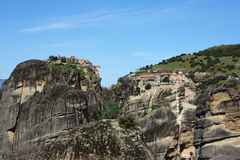 Monasteries on the rocks Royalty Free Stock Image