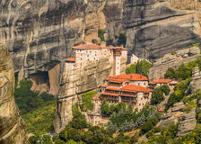 Monasteries on the rocks royalty free stock images
