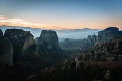 Monasteries on the rocks in Meteora, Greece Stock Images