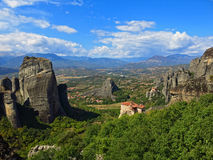 Monasteries on the rocks, Meteora, Greece Royalty Free Stock Photography