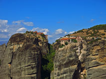 Monasteries on the rocks, Meteora, Greece Royalty Free Stock Image