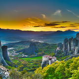 Monasteries on the Rocks Royalty Free Stock Photo