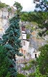 Monasterio 2 de la roca de Besarbovo Fotografía de archivo