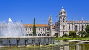 Monasterio Abbey Belem Lisbon de Jeronimos Foto de archivo libre de regalías