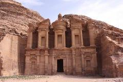 Monasterio (al-Deir) - Petra Imagen de archivo