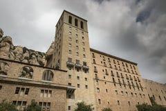 Monasterio benedictino de la abadía de Santa Maria de Montserrat, Cataluña, España Imágenes de archivo libres de regalías