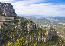 Monasterio benedictino de Santa Maria de Montserrat Foto de archivo libre de regalías