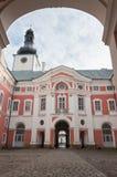 Monasterio benedictino en Broumov, la era barroca Fotografía de archivo