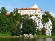 Monasterio benedictino en Tyniec cerca de Krak?w, Polonia fotografía de archivo