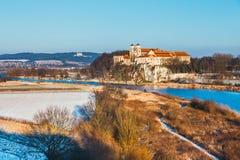 Monasterio benedictino en Tyniec, Polonia Foto de archivo