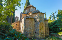 Monasterio bizantino en Kaisariani, Atenas fotografía de archivo libre de regalías