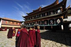 Monasterio budista de Tibetant Foto de archivo libre de regalías