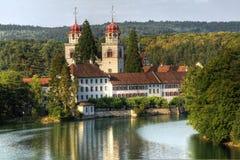 Monasterio católico, Rheinau, Suiza (HDR) Fotografía de archivo