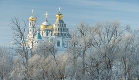 Monasterio, catedral, bóveda, ortodoxia, cruz, iconos, capillas foto de archivo