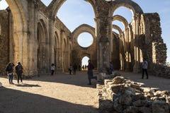 Monasterio cisterciense en ruinas Collado Hermoso, Segovia españa Fotos de archivo libres de regalías