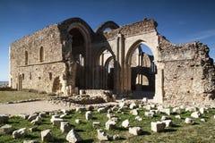 Monasterio cisterciense en ruinas Collado Hermoso, Segovia españa Foto de archivo libre de regalías