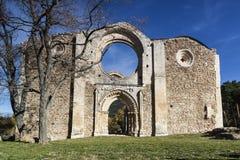 Monasterio cisterciense en ruinas Collado Hermoso, Segovia españa Imagenes de archivo