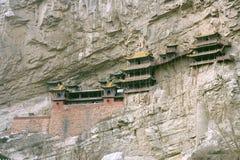 Monasterio colgante, China Foto de archivo libre de regalías