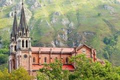 Monasterio Covadonga Imagen de archivo libre de regalías