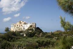Monasterio Crete de Hrissoskalitissa imagenes de archivo