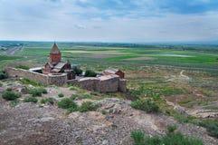 Monasterio cristiano de Khor Virap en Armenia fotos de archivo