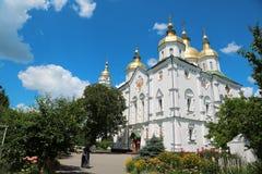 Monasterio cruzado santo en la ciudad de Poltava, Ucrania fotografía de archivo