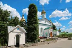 Monasterio cruzado santo en la ciudad de Poltava, Ucrania fotografía de archivo libre de regalías