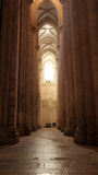 Monasterio de Alcobaça, Alcobaça, Portugal Imagen de archivo libre de regalías