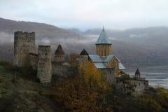 Monasterio de Ananuri Imagen de archivo libre de regalías