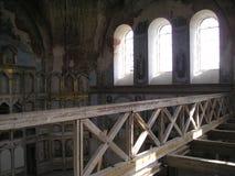 Monasterio de Antonievo-Verkalsky Restauración del templo Frescos únicos fotografía de archivo