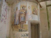 Monasterio de Antonievo-Verkalsky Restauración del templo Frescos únicos imagen de archivo