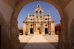 Monasterio de Arkadi Imagenes de archivo