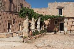 Monasterio de Arkadi Crete, Grecia Imagenes de archivo
