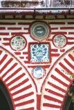 Monasterio de Athos Decoración de la entrada con cerámica Foto de archivo libre de regalías