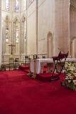 Monasterio de Batalha Altar y ábside de la iglesia Foto de archivo