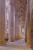 Monasterio de Batalha. Cubo y pasillo secundarios Imagen de archivo libre de regalías