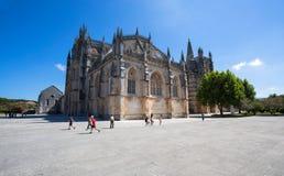 Monasterio de Batalha en Portugal Es un convento dominicano en la parroquia civil de Batalha en Portugal y se enumera en la UNESC Fotos de archivo